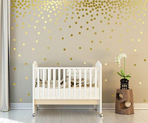 WandSticker4U®- 162x Wandtattoo Punkte in GOLD selbstklebend I goldene Aufkleber Kreise für Wände und Möbel I Wandsticker Kinderzimmer Sternenhimmel Dots (D. Punkte: Gold)