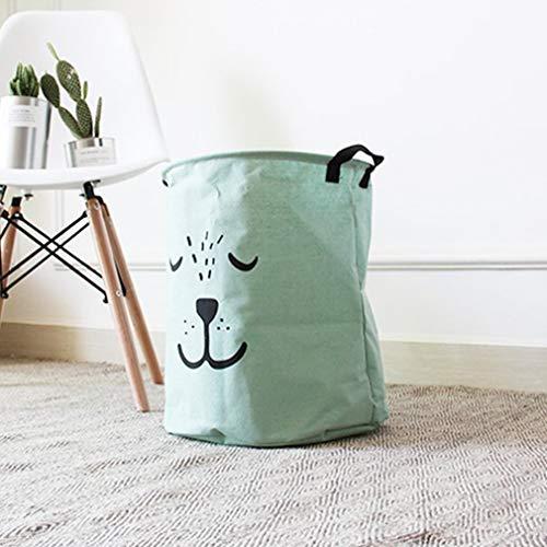 Lindong Cesto plegable para la ropa de la habitación de los niños, resistente al agua, para guardar juguetes, ropa (verde-2)
