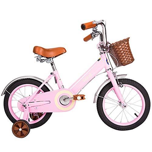 UOOGOU Kinderfiets Met Hulpwiel Retro Kinderfiets Wit/Roze/Groen Mode Mountainbike