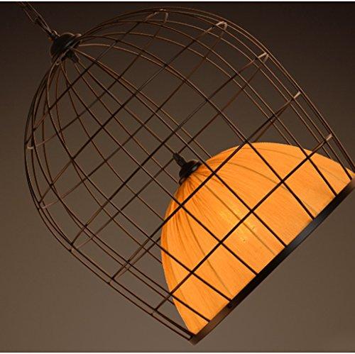 Rustica lampara techo lamparas retro vintage American Village Retro lámpara de hierro Nordic creativo Escalera de ropa Tienda Restaurante Bar Araña Industrial