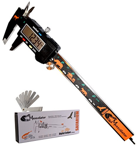MeasuGator Safarium Digital Caliper, 2 Addons, Verifiable Accuracy, Automatic Off/On, 6 Inch/150 mm...