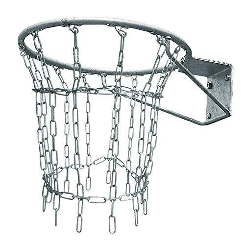 Sport-Thieme Basketballnetz Outdoor   Netz für Basketballkorb   Allwetter- und Vandalismusgeschützt   Verzinkte Stahlkette 4mm   Markenqualität