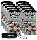RAYOVAC Advance Extra 312 PR41 - Pilas para audífonos, color marrón, zinc, aire de 1,4 V, 60 unidades