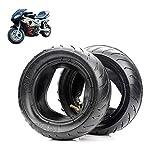 MJJ Neumáticos de Scooter eléctrico, 90/65-6,5/110 / 50-6,5 Neumáticos Antideslizantes Resistentes al Desgaste, adecuados para neumáticos de Mini Motocicleta/Coche Deportivo pequeño de 49 CC