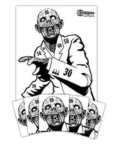 X-Targets Zombie Zielscheiben Set Snobby / 50x70 cm/Papier 120g/m²