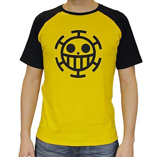"""ABYstyle - ONE PIECE - Tshirt """"Trafalgar Law"""" homme jaune (L)"""