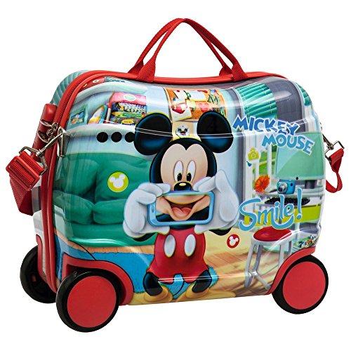 Disney Mickey Smile Bagaglio a Mano, ABS, Blu, 41 cm