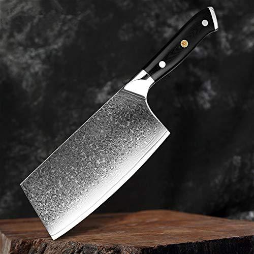 Damaskusmesser Professionelle Chef Metzgermesser 67 Schichten Damaskus Stahl Küchenmesser G10 Griff Kleaver Santoku Messer