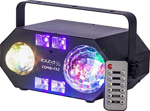 IBIZA COMBI-FX2 4in1 LED Lichteffekt Deko Bühne Party Disco Musik Club DJ Licht
