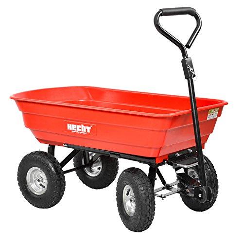 Hecht Bollerwagen 52145 Transportkarre Garten-Wagen kippbar belastar bis 250kg