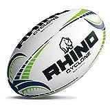 Rhino Cyclone - Pallone da rugby, colore: bianco, misura 3