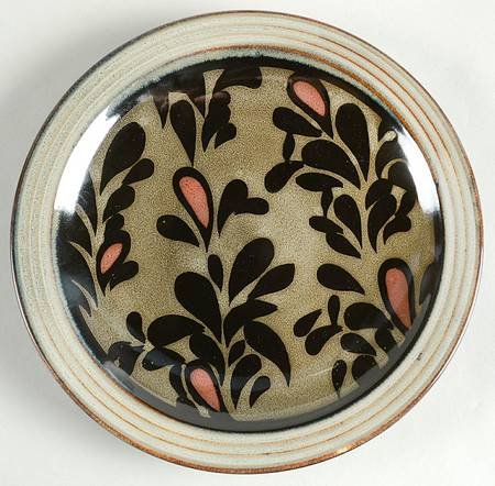 Sango Salerno-Black Salad Plate, Fine China Dinnerware