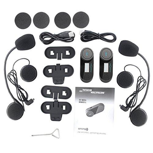 FreedConn Motorrad Intercom TCOM-SC Helm Bluetooth Headset-Gegensprechanlage für Motorrad-Skifahren LCD-Bildschirm / FM Radio / Freisprechen / Reichweite-800M / 2-3Riders Pairing / Schwarz - 8