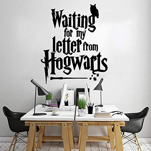 ZZLLL Moderno Esperando mi Carta, Desde vinilos Adhesivos de Pared para Decorar la habitación de los niños, vinilos Decorativos para la Sala de Estar 39x46
