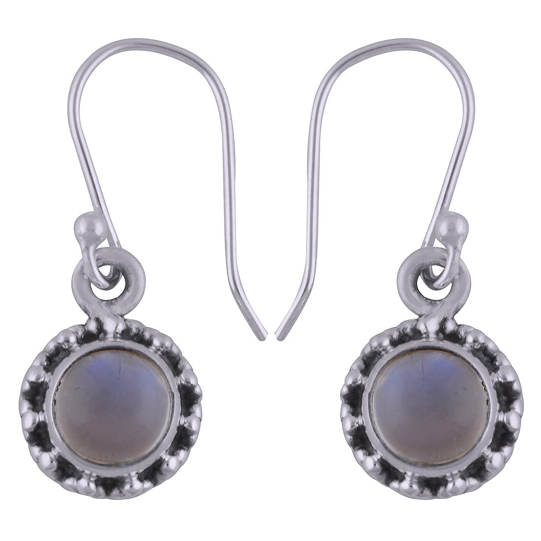 Solid 925 Sterling Silver Rainbow Popularity Drop Max 68% OFF Handmade Dangle moonstone