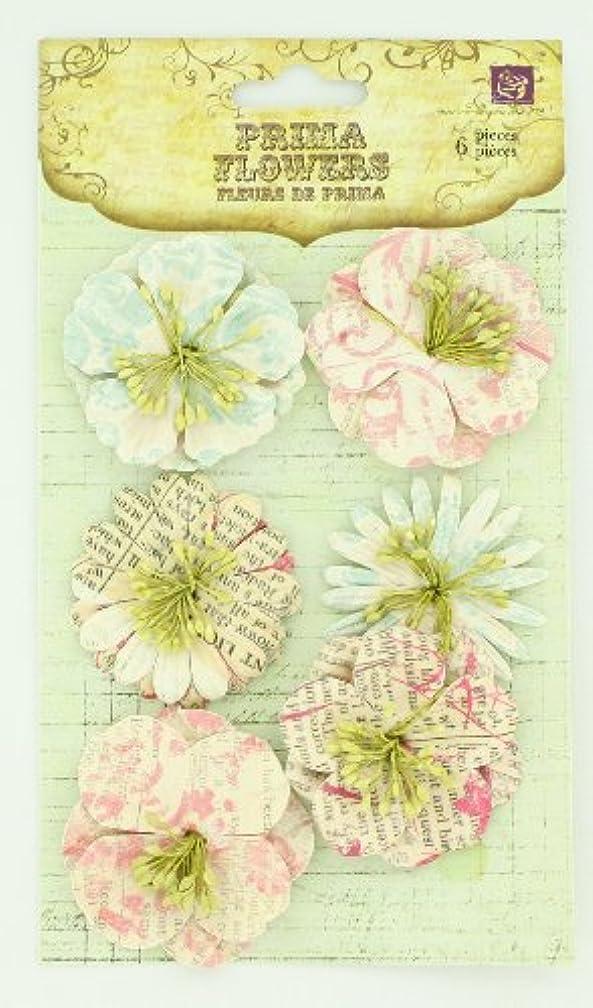 Prima 539948 Shabby Chic Flower Embellishments, Patterned