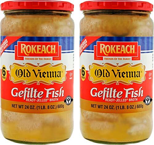 "Rokeach Old Vienna Gefilte Fish 24oz ""2 Pack"" Delicious Sweet Recipe"