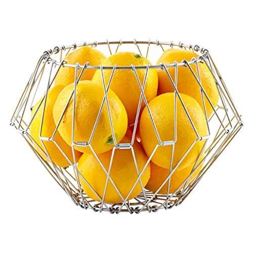 ZTMN Frutero, bastidores de Frutas Modernos de Acero Inoxidable multifunción Mantiene Las Frutas y Verduras Almacenamiento Fresco Canasta de exhibición Canasta de Frutas