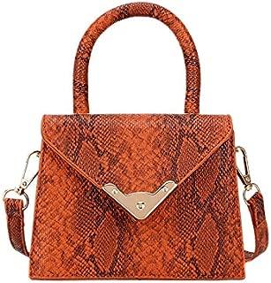 TOOGOO Vintage Fashion Female Tote Bag New Pu Leather Women'S Handbag Serpentine Portable Shoulder Crossbody Bag Khaki