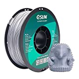 eSUN Filamento PLA+ 1.75mm, Impresora 3D Filamento PLA Plus, Precisión Dimensional +/- 0.03mm, 1KG (2.2 LBS) Carrete para Filamento de Impresión 3D, Plata