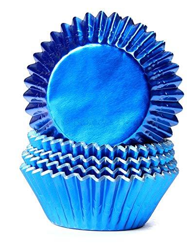Miss Bakery's House® Papierbackförmchen - Folie - Königsblau - 50 Stück - Muffin, Cupcake