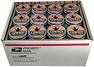 Cowboy Coffee Chew (Pack of 72) Quit Chewing Tin Can Non Tobacco Nicotine Smokeless Alternative to Dip Snuff Snus Leaf