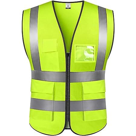 Sicherheitsweste Warnweste Hohe Sichtbarkeit Reflektierendes Weste Executive Manager Workwear Jacke Zip 2 Band Brace Sicherheit Handytasche Ausweishalter Xl Baumarkt