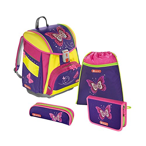 Step by Step Touch 2 DIN Shiny Butterfly Schulranzen Set 4tlg.