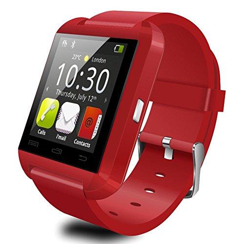 U8 mejorada versión de Bluetooth inteligente del reloj del reloj de Negro Plus UWatch apto para teléfonos inteligentes Android IOS
