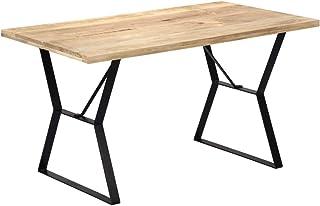 vidaXL Bois de Manguier Massif Table de Salle à Manger Table à Dîner Meuble de Cuisine Table de Repas Mobilier à Dîner Mai...