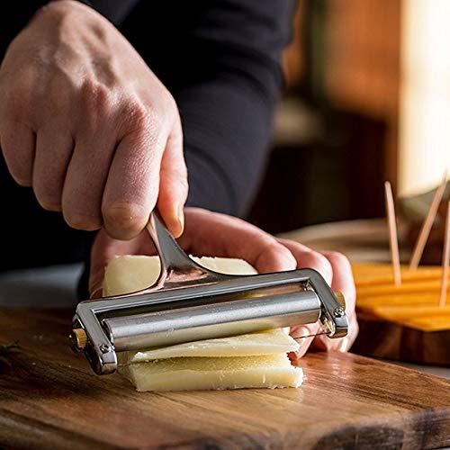 Tranches de beurre de fromage, couteau à fromage coupe-pizza réglable, coupe-fromage en alliage de zinc, râpe à beurre, coupe-beurre tranchant