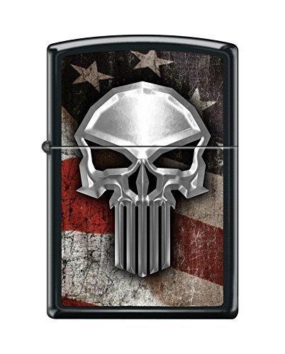 Custom Flag Skull Reg Blk Matte