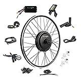 EBIKELING Ebike Conversion Kit 48V 1200W 700C Direct Drive Waterproof Electric Bike Conversion Kit - Ebike Kit - Hub Motor Kit (Front/LCD/Thumb)