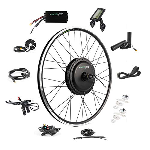 EBIKELING 48V 1200W 700C Direct Drive Waterproof Electric Bike Kit - Ebike Conversion Kit - Electric Bike Conversion Kit (Front/LCD/Thumb)