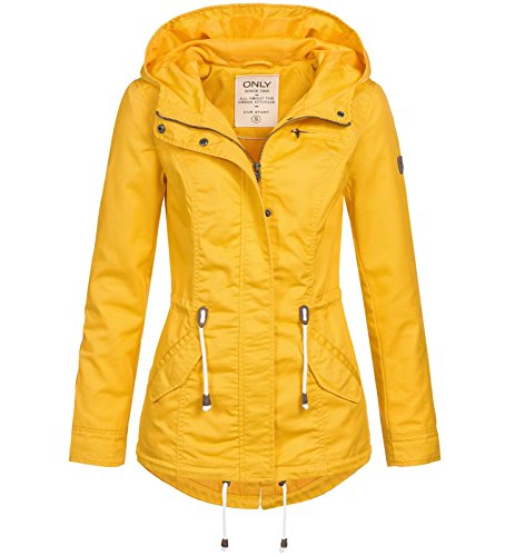 ONLY Damen Parka New Lorca 15144774 Yolk Yellow XL