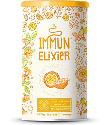 Immun-Elixier - Phyto-Pulver mit Vitamin C aus Acerola, Kurkuma, Zitrus-Bioflavonoiden, Selen, Zink, Camu Camu, Holunder, Echinacea, Mit Quercetin & NAC - 450 Gramm