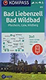 KOMPASS Wanderkarte Bad Liebenzell, Bad Wildbad: 3in1 Wanderkarte 1:25000 mit Aktiv Guide inklusive Karte zur offline Verwendung in der KOMPASS-App. ... Langlaufen. (KOMPASS-Wanderkarten, Band 873)