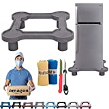 UR LITTLE SHOP Heavy Duty Universal Refrigerator Stand Double Door/Single Door Stand/Washing Machine Stand with Box Packing Free 2 Vegetable net,1 Knife,1 Peeler