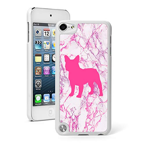 Marble Hard Case Cover for Apple (iPod Touch 5th / 6th / 7th) French Bulldog (Pink)