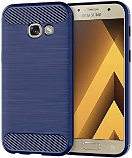 Silicone Case Compatible with Samsung Galaxy A3 2017 Mobile Shell for Samsung A3 2017 Cover Brushed Silicone Anti-Fall Sof...