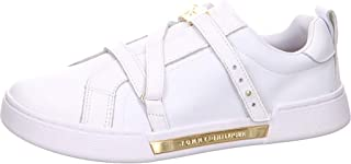 Tommy Hilfiger Branded Th Hardware Women Sneakers, White (White)