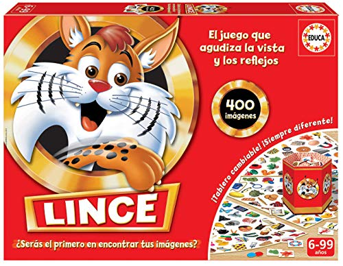 Educa- Lince-Edición Familia Juego de Mesa, Multicolor, 400 imágenes (16146)