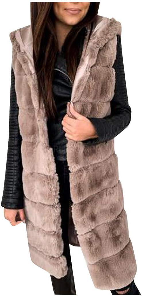 SERYU Womens Faux-Fur' Gilet Vest Sleeveless Waistcoat Body Warmer Jacket Coat Outwear