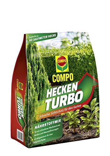 Compo Heckenturbo, Nährstoffmix, Spezialdünger für Hecken und Neuanpflanzungen, 4 kg