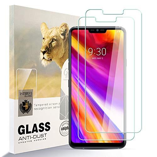 Asoway zidwzidwei Displayschutzfolie Panzerglas für LG G7 THINQ [2er Pack] HD-Hartglasfolie Anti-Fingerabdruck Blasenfrei Leicht zu Installieren, 9H Härte Glasschutzfolie Schutzfolie fürLG G7 THINQ