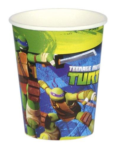 Riethmüller 8 Becher * Teenage Mutant Ninja Turtles * für Party und Geburtstag // Kindergeburtstag Kinder Feier Fete Set Partybecher Pappbecher Deko Motto