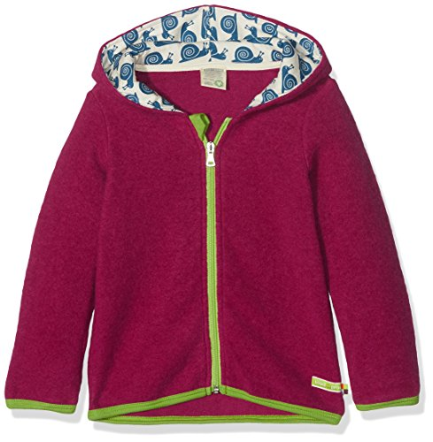 loud + proud Mädchen Wollfleece Jacke, Violett (Berry Ber), 56 (Herstellergröße: 50/56)