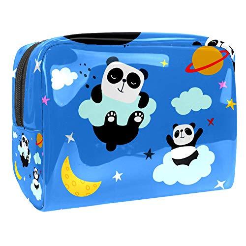 Maquillage Cosmetic Case Multifunction Travel Toiletry Storage Bag Organizer for Women - Night Panda Sleeping