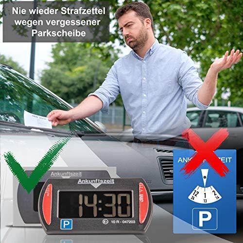 Needit Park Mini elektronische Parkscheibe digitale Parkuhr mit offizieller Zulassung des Kraftfahrtbundesamtes