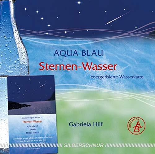 Sternen-Wasser: Wasser-Energiekarte, schenkt Freude/Happy-Wasser, blau+silber+weiß: Energetisierte Wasserkarte